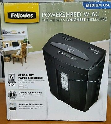 Fellowes POWERSHRED paper document credit card shredder