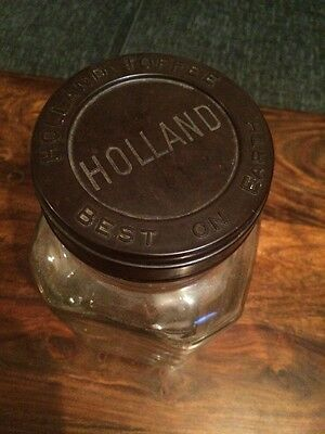 Vintage Holland Toffee Jar With Bakelite Lid