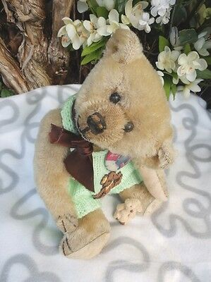 LITTLE DREAMBOAT THEO, ANTIQUE AMERICAN IDEAL TEDDY c.1907
