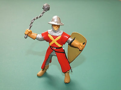 Papo Soldier With Chain Mace Plastic Toy Figure -  Excellent  Condition