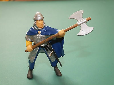 Papo Chain Mail Soldier With Axe Plastic Toy Figure -  Good  Condition