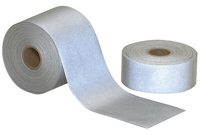 10mt Length Hi Visibility Reflective Iron On Silver Grey Tape 50mm Wide Easy Fit