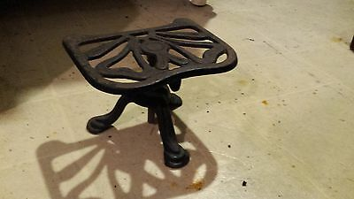 Antique Justryte No.729 Art Nouveau Cast Iron Adjustable Stool Stand