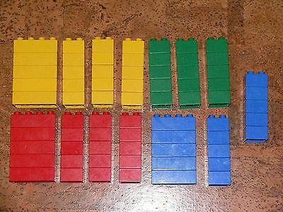 USED LEGO DUPLO. 100 2x2 and 2x4 building blocks.