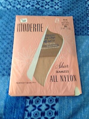 One Pair of Vintage Moderne Stockings Size 11 Average
