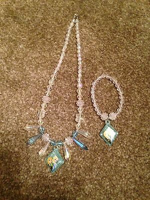 Disney Frozen Necklace And Braclet Set