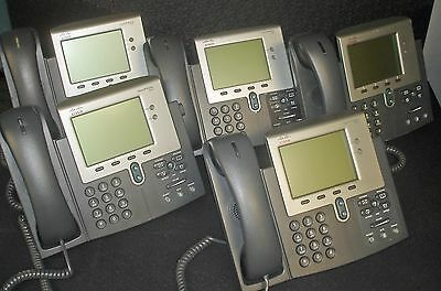 Lot of 5 Cisco 7942G CP-7942G VOIP IP PHONE - Tested!