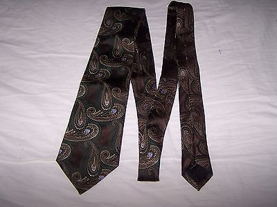CANALI 100% Silk Men's Paisley Tie Made in Italy