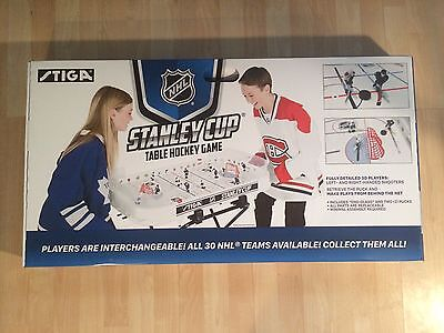 New* STIGA Stanley Cup  HOCKEY Game and 4 Hand-Painted NHL Teams FREE SHIPPING