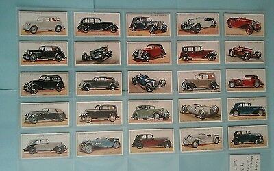 Player Motor Cars (Green Tops) Full Set Excellent Condition In Sleeves