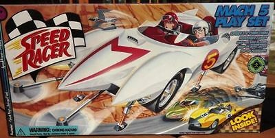 Speed Racer Mach 5 Toy Car Action Play Set Limited Edition  By Resaurus New/mib
