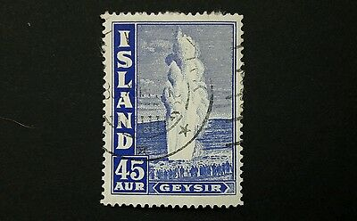 Iceland stamp 1938 The Great Geyser sg230 used