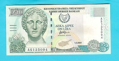 10 CYPRUS POUNDS 2001 -  UNCirculated.
