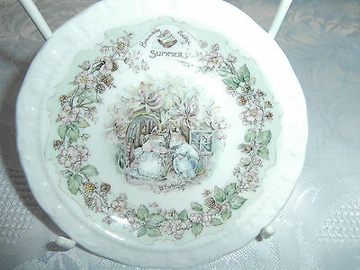 Royal Doulton Brambly hedge 5inch wall plate Summer vgc