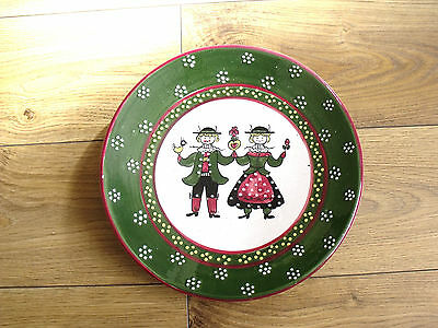 """Continental Art Pottery 10"""" Wall Plate"""