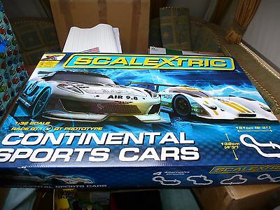 Scalextric 1:32 Scale Continental Sports Cars Race Set C1319T