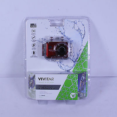 Vivitar DVR786HD 1080P Wi-Fi 12.1MP Waterproof Action Sports Video Camera - New