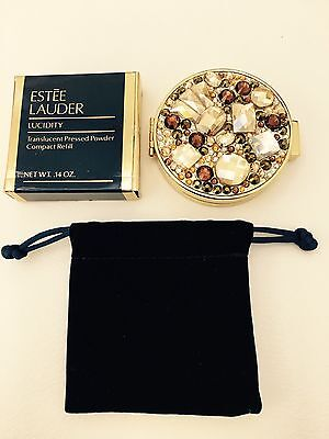 VINTAGE ESTEE LAUDER Starry Nights COMPACT RARE W/ NEW REFILL
