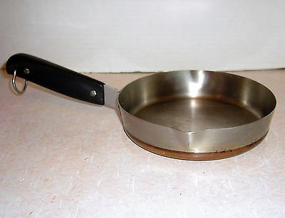 Ward 7 Inch Copper-CLAD-bottom Stainless Saute Skillet Fry Pan  Pouring Lips