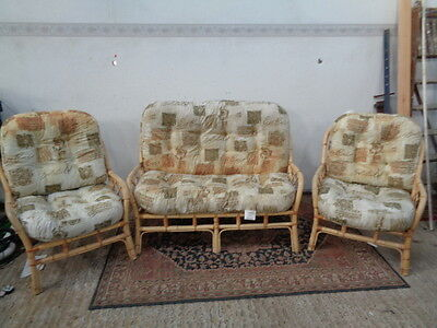 cane conservatory furniture sofa  2 easy chairs