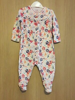 Next Baby Girls Floral  Sleepsuit Age 3-6 Months
