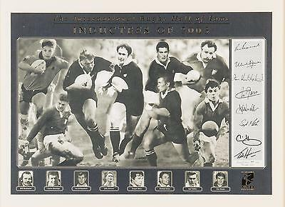 2003 RUGBY HoF INDUCTEES SIGNED/FRAMED RARE-COA