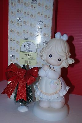 """1996 Precious Moments Love is Universal LE Easter Seals 9"""" In Box ADR CT"""