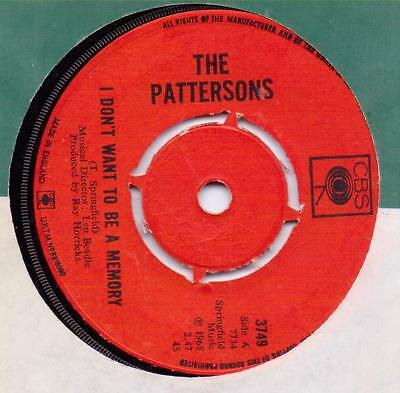 Pattersons I don't want to be a memory CBS 3749 VG+