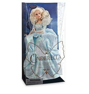 Disney Store Fairy Godmother CINDERELLA movie Film Collection Doll NIB new NWT