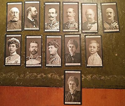 Wills Cigarette Card Portraits Of European Royalty - 1908