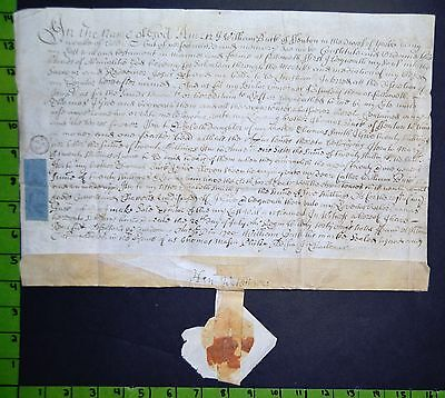 Last Will and Testament on Vellum England 1700