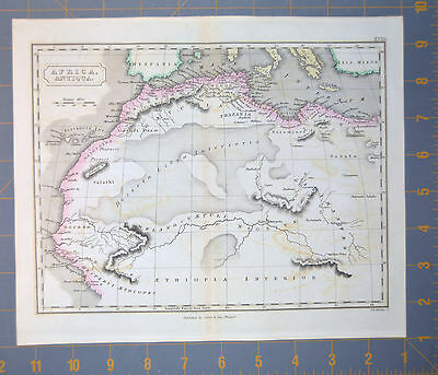 Northern Africa Ancient Egyptian Map Printed 1834 11x9 Inchhes