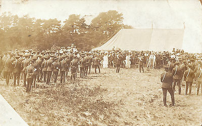 Church Service - Photographic. Soldiers Chaplin