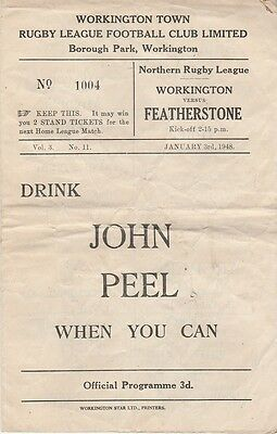 WORKINGTON TOWN v FEATHERSTONE ROVERS January 3rd1948