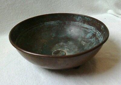 Vintage Old Copper Bowl with ball feet Victorian?