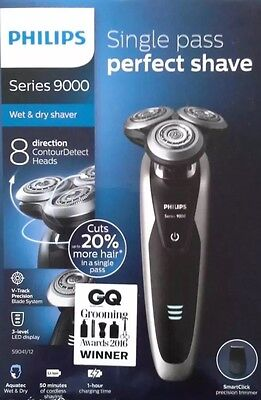 Philips S9041/12 9000 Series Wet and Dry Shaver SmartClick Precision Trimmer