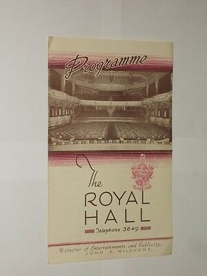 The Royal Hall Harrogate Theatre Programme 1945. The Great Lyle. Magician.