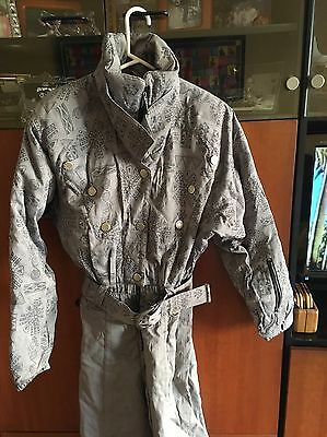 VINTAGE NILS SKIWEAR ONE PIECE SKI SUIT SNOW SUIT Gray Women's SIZE 10 EUC