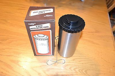 """6"""" Stainless Steel Film Processing/Developing tank with Reel Hanger New"""