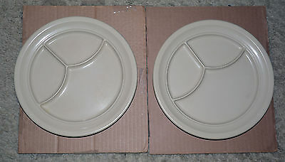 Dallas Ware Divided Plate Melmac Melamine Lot of Two Tan