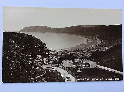 vintage postcard, Llandudno, General view, early real photo, G.R.Thompson