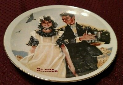 Vintage Norman Rockwell Plate for IMM Boy Carrying Books For Girl
