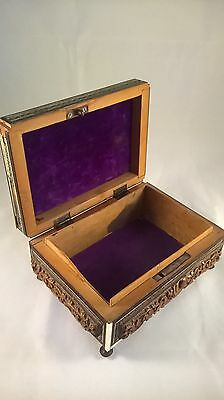 Antique 19th century Anglo Indian inlaid carved box