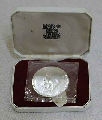 1970 Isle of Man Crown Manx Cat  Silver Proof Coin