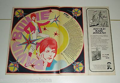 David Bowie - Article In Comic Mag Pep Holland 1972 Pop Art Drawing