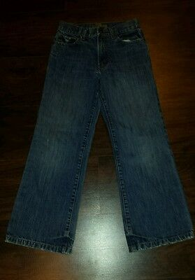 Old Navy boys jeans size 12 slim boot cut distressed GUC