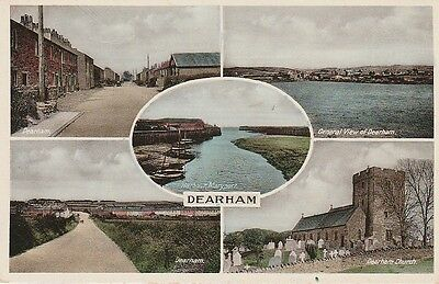 Multiview postcard of DEARHAM near Maryport and Cockermouth