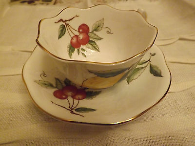 RARE Aynsley Elegant Georgian Fruit cabinet cup and saucer 1st