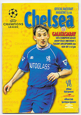 Chelsea v Galatasaray, 1999/2000 - Champions League Group Stage 1 Programme.