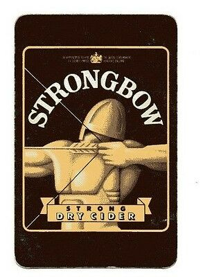 Playing card -Bulmer's, Hereford . Strongbow Strong Dry Cider